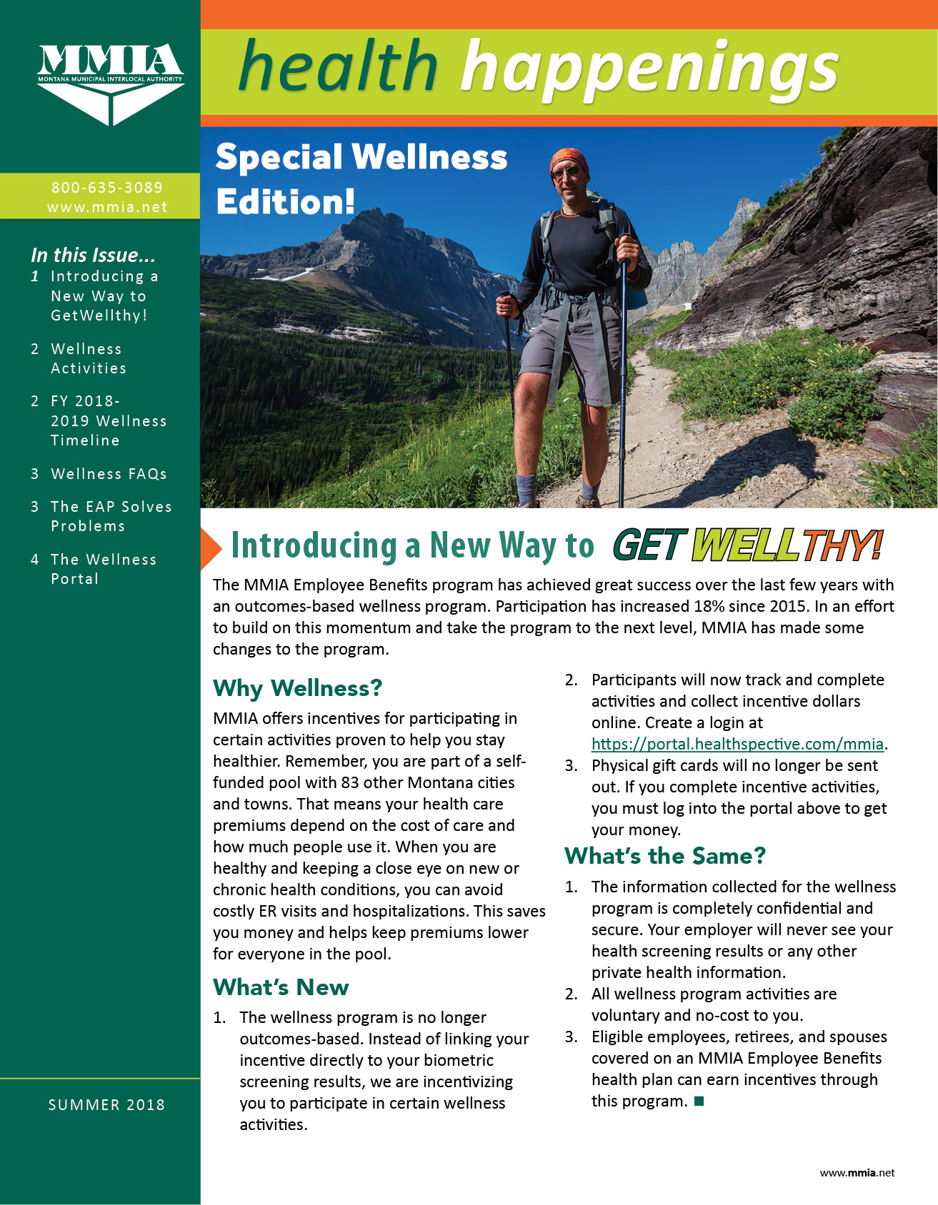 Summer 2018 Health Happenings - Special Wellness Edition!