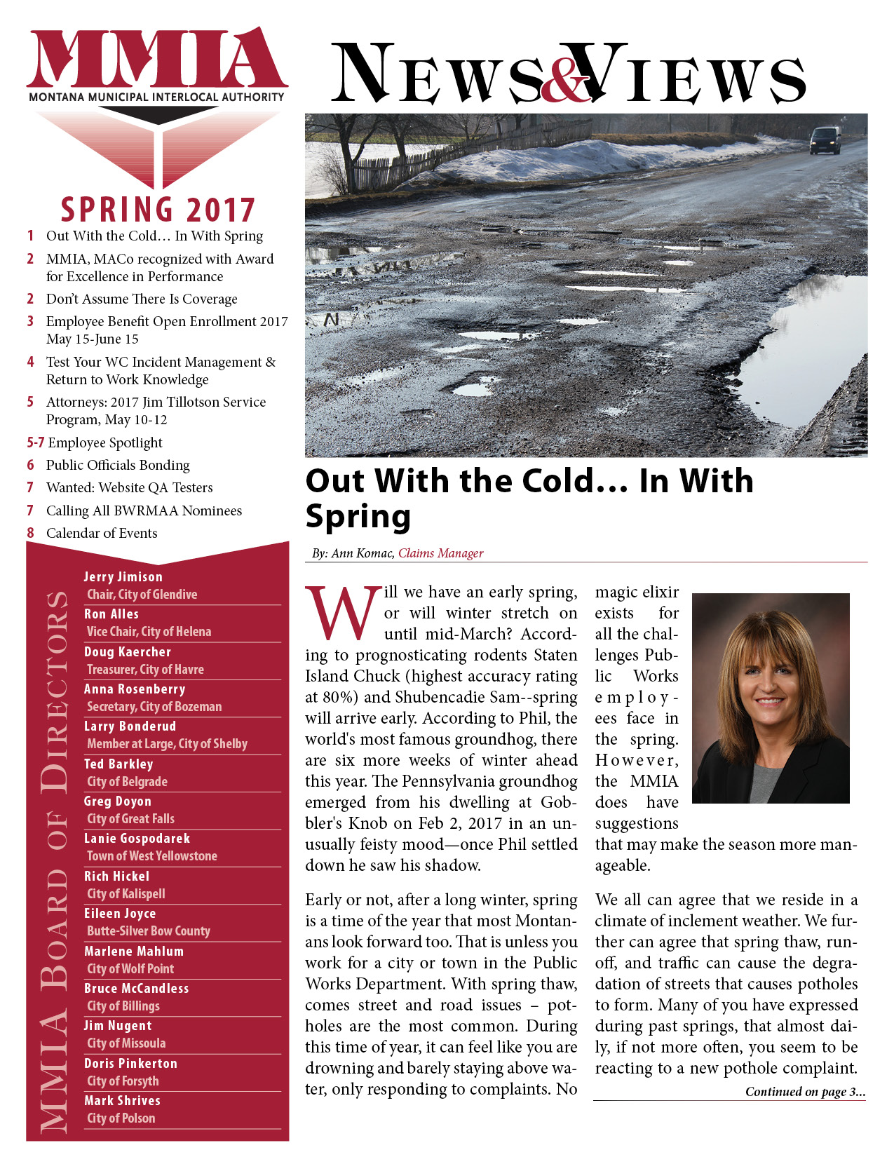 MMIA News & Views - Spring 2017