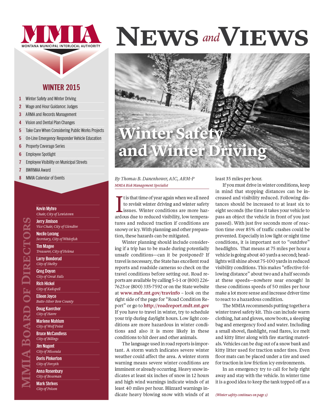 MMIA News & Views - Winter 2015